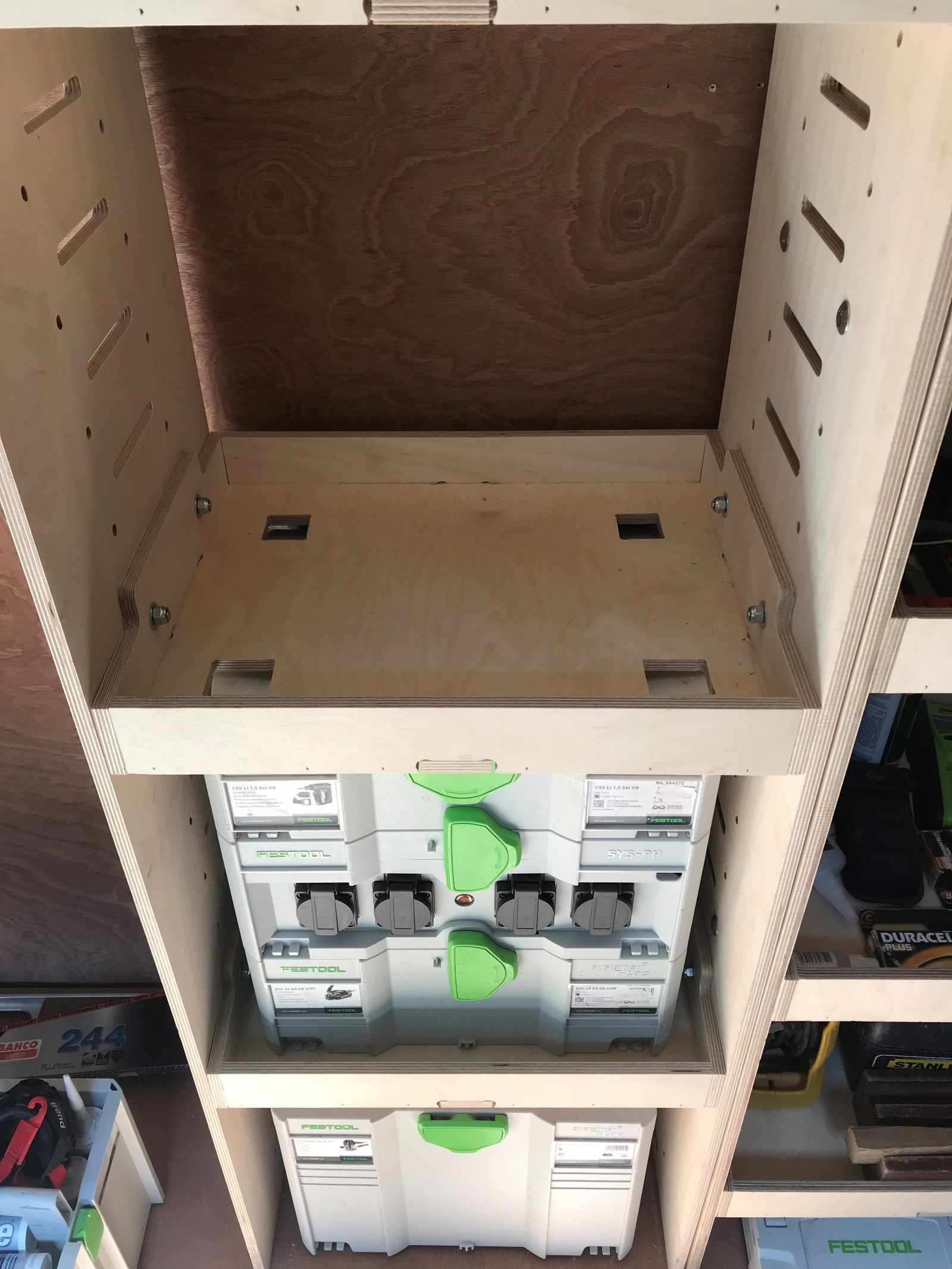 Festool Systainer Tanos Van Plywood Shelving And Racking